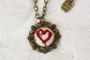 Red Cross Stitch Heart