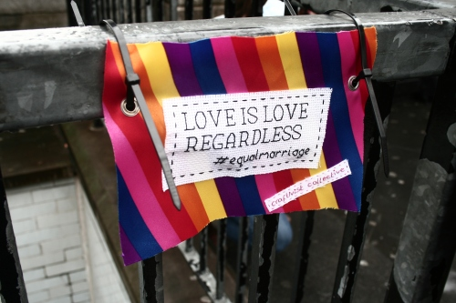 Love is Love Mini Protest Banner