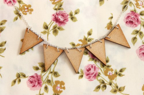 Wooden Bunting Necklace